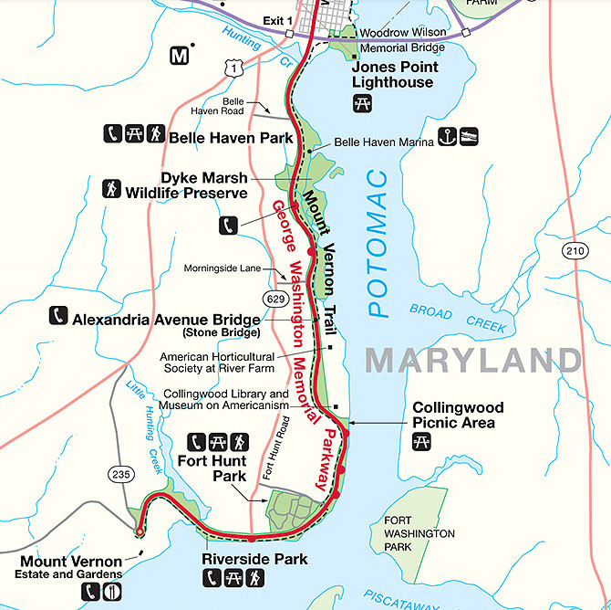 Dyke Marsh Map